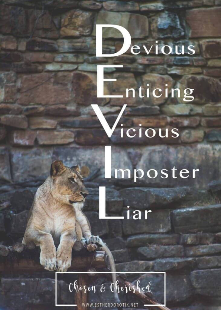 the-devil-is-a-devious-enticing-vicious-imposter-liar, satan will always try to get you to question God, he is an imposter of everything God does