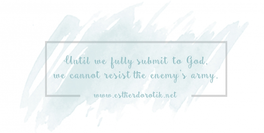 waging war on the enemy, we are fighting from victory, not for victory, Christ defeated the devil, spiritual warfare is real, Jesus paid the price on the cross, learn how to take possession of the land God has given you, fighting for your family, we have to fully submit to God to resist the devil, James 4:7, satan is a defeated foe