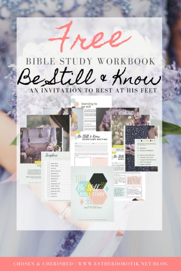 Free Bible Study Workbook on How to Be Still and Pray | 8