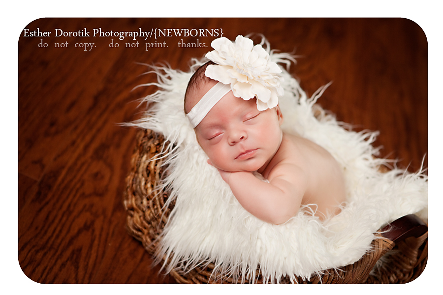 6-week-old-newborn-laying-in-basket-with-fur-and-cream-headband