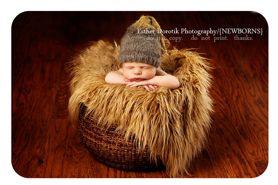 newborn-baby-boy-laying-in-basket-with-fur-and-hat
