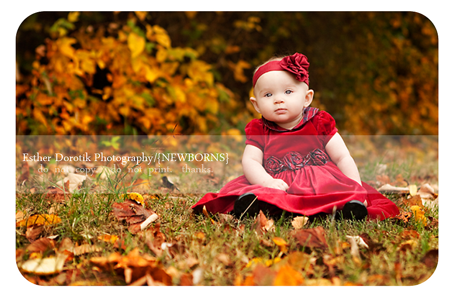 photography-of-6-month-old-baby-girl-in-Christmas-dress-and-beautiful-fall-colors