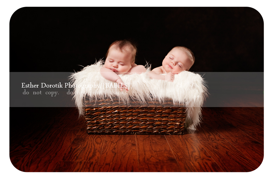 dallas-photographer-captures-twin-baby-girls-asleep-laying-in-basket