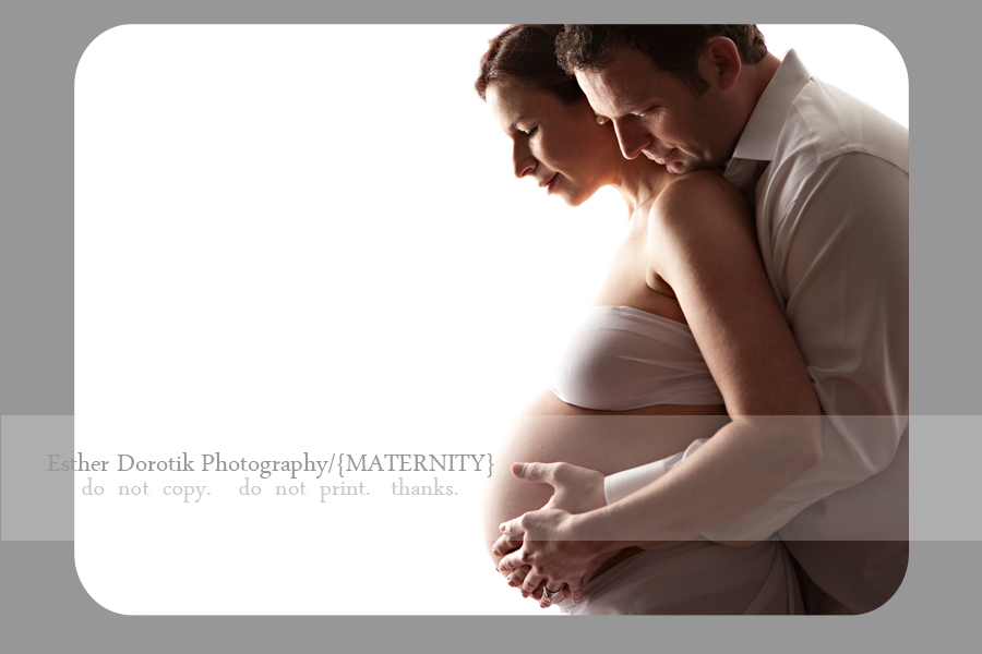 maternity-photo-of-pregnant couple-against-white-background-in-dallas