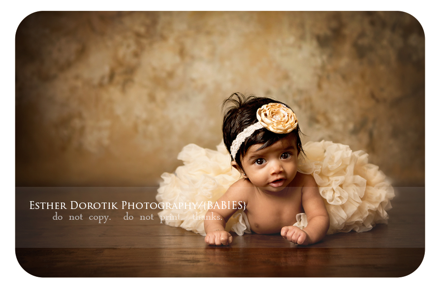baby-girl-laying-on-tummy-with-yellow-tutu-by-Fort-Worth-newborn-photographer