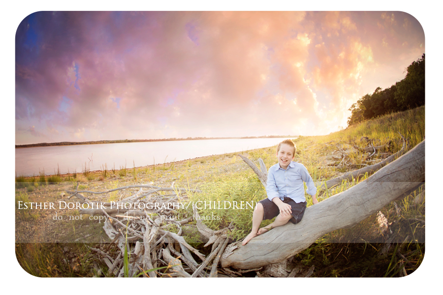 beautiful-sunset-session-at-the-lake-with-10-year-old-boy-by-Dallas-child-photographer