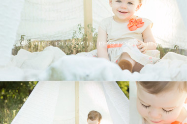 unique-baby-photography-of-little-girl-in-cream-tent-playing-by-Dallas-child-photographer