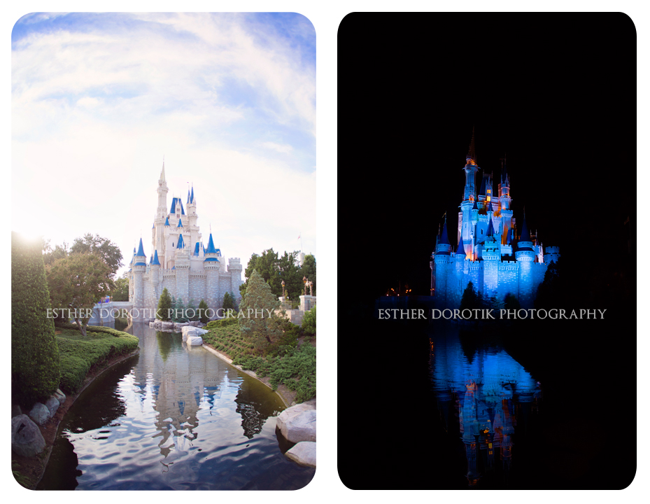 Frisco-family-photographer-captures-Walt-disney-world-castle-in-day-and-night