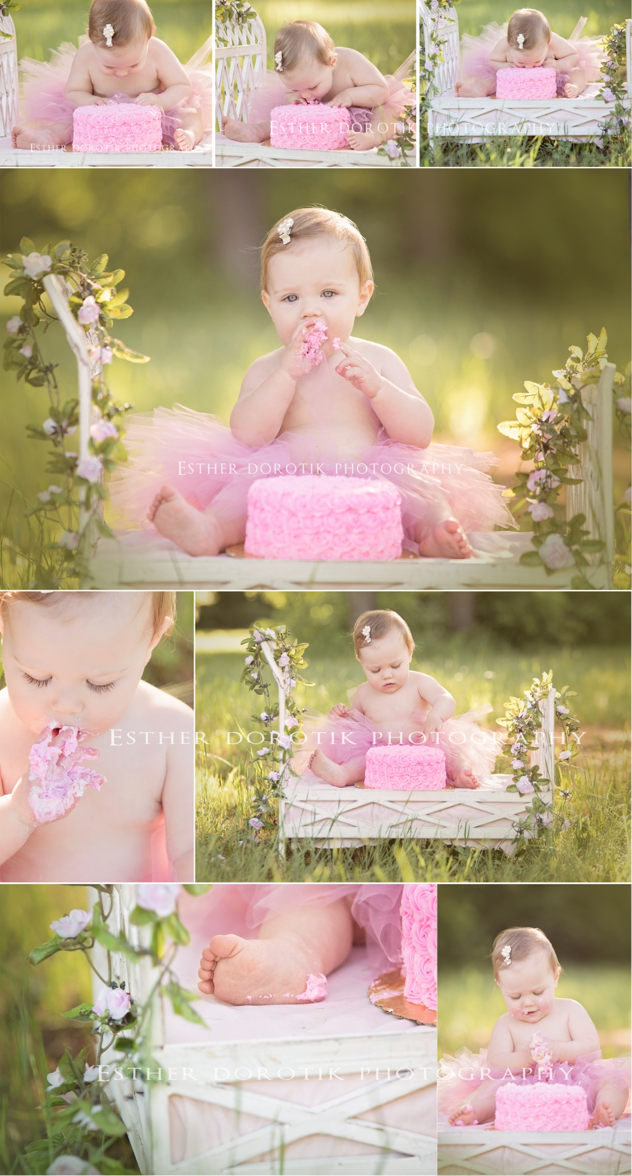 one-year-old-photo-of-little-girl-in-tutu-smashing-cake-by-Flower-Mound-photographer
