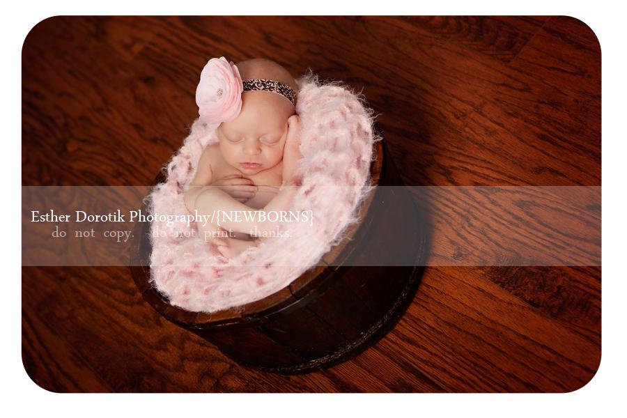 twin-newborn-laying-in-basket-with-pink-headband