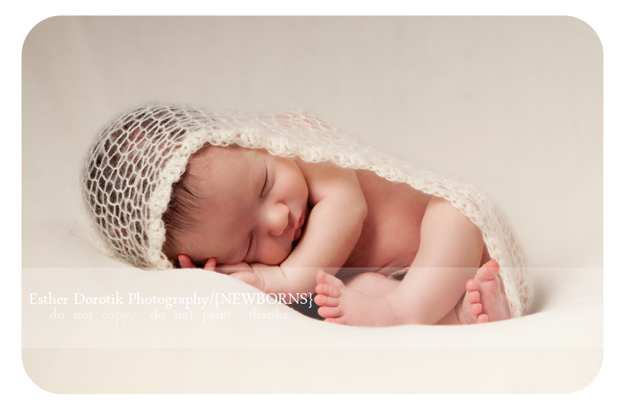 Best newborn baby posing with wrap taco pose