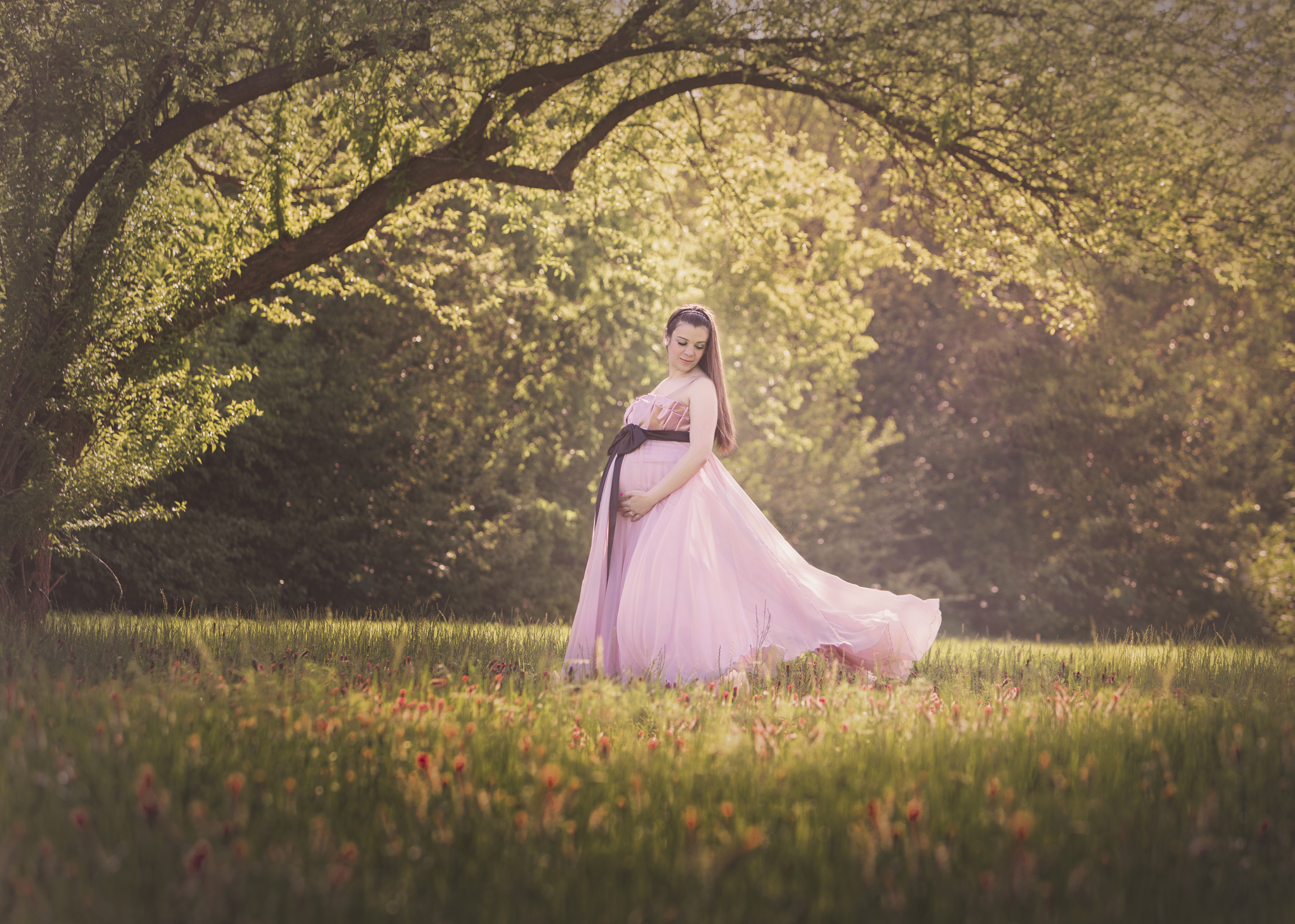 flowing-maternity-gown