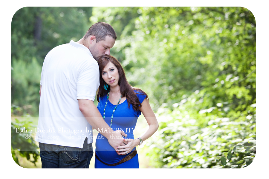 expecting-couple-taken-by-Dallas-photographer-in-creek-area-with-bright-colors