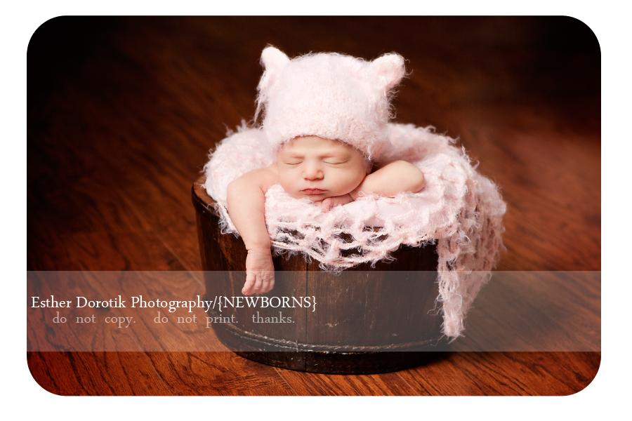 best-newborn-photographer-in-Dallas-captures-baby-girl-with-kitten-hat