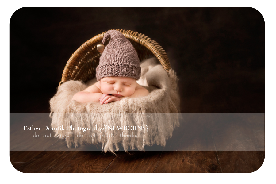 newborn-baby-photographed-in-basket-with-christmas-hat-by-Dallas-Newborn-photographer