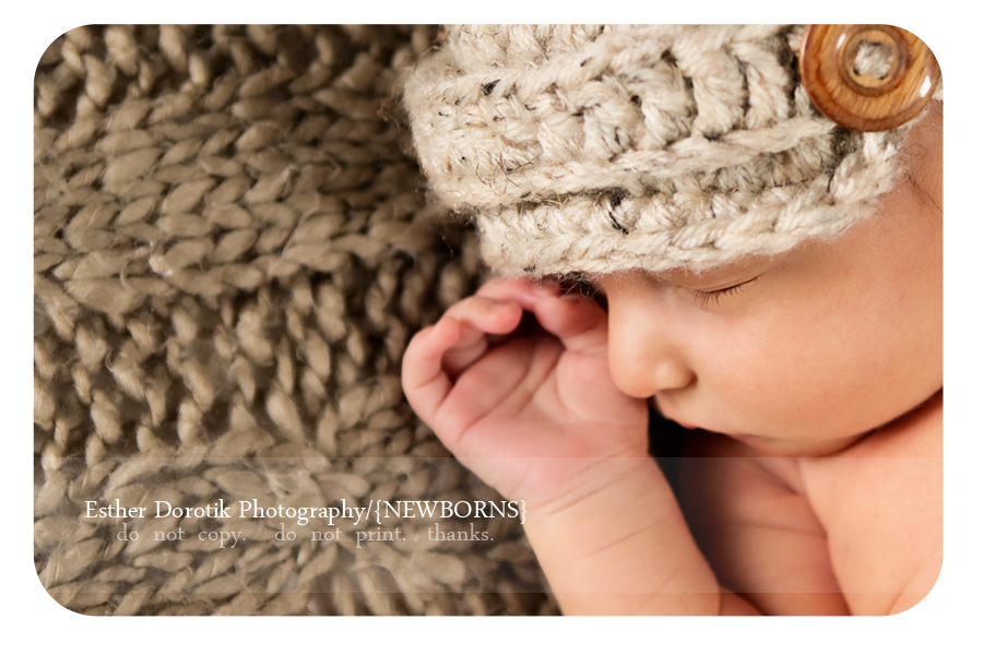 side-profile-of-5-day-old-newborn-infant-boy-by-Fort-Worth-photographer