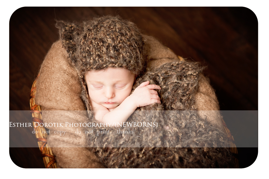 image-of-newborn-baby-laying-in-basket-with-knit-wrap-and-hat-by-Grapevine-newborn-photographer