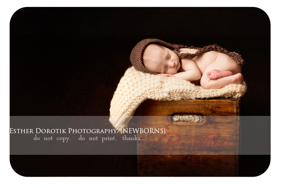 Dallas-newborn-photographer-captures-timeless-image-of-boy-in-antique-crate