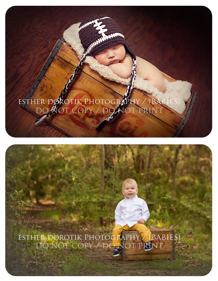 fun-way-to-capture-change-in-newborn-and-one-year-old-by-Dallas-newborn-photographer
