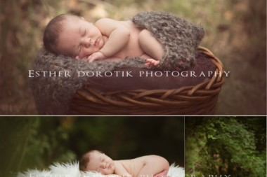 outdoor-newborn-photography-with-family-on-rock-in-wooded-area-by-Dallas-newborn-photographer