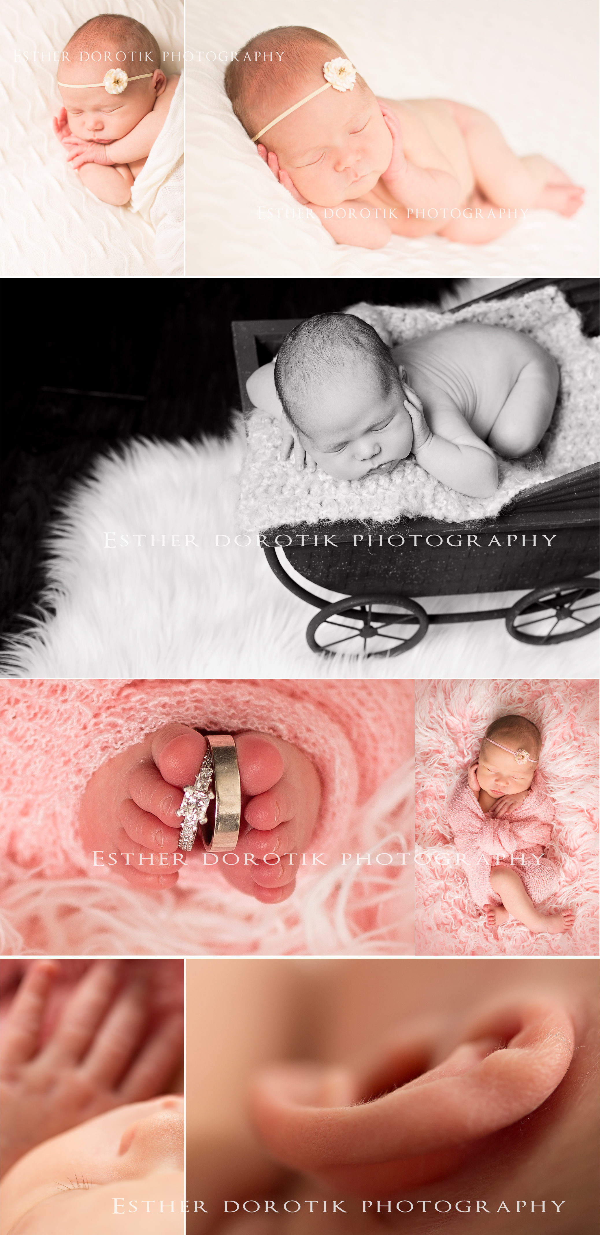 newborn-baby-photography-of-little-girl-in-baskets-and-wrapped-in-knits-laying-on-fur-by-Fort-Worth-newborn-photographer