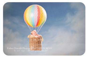 composite-of-newborn-baby-in-hot-air-balloon-basket-taken-by-Dallas-newborn--baby-photographer