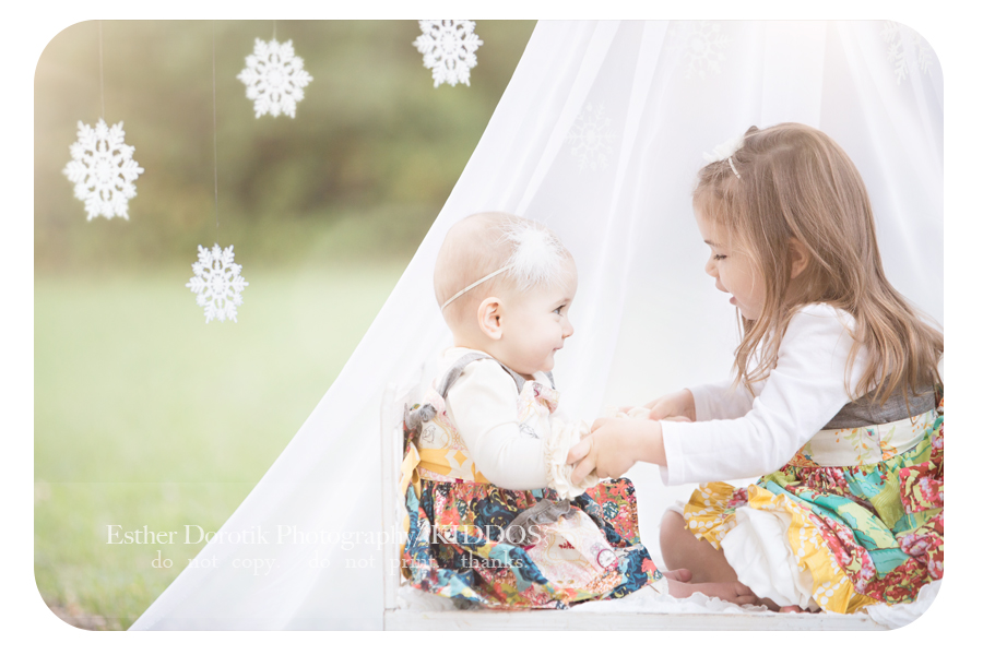 fun-photo-session-with-sisters-sitting-in-tent-playing-by-Dallas-children-photographer