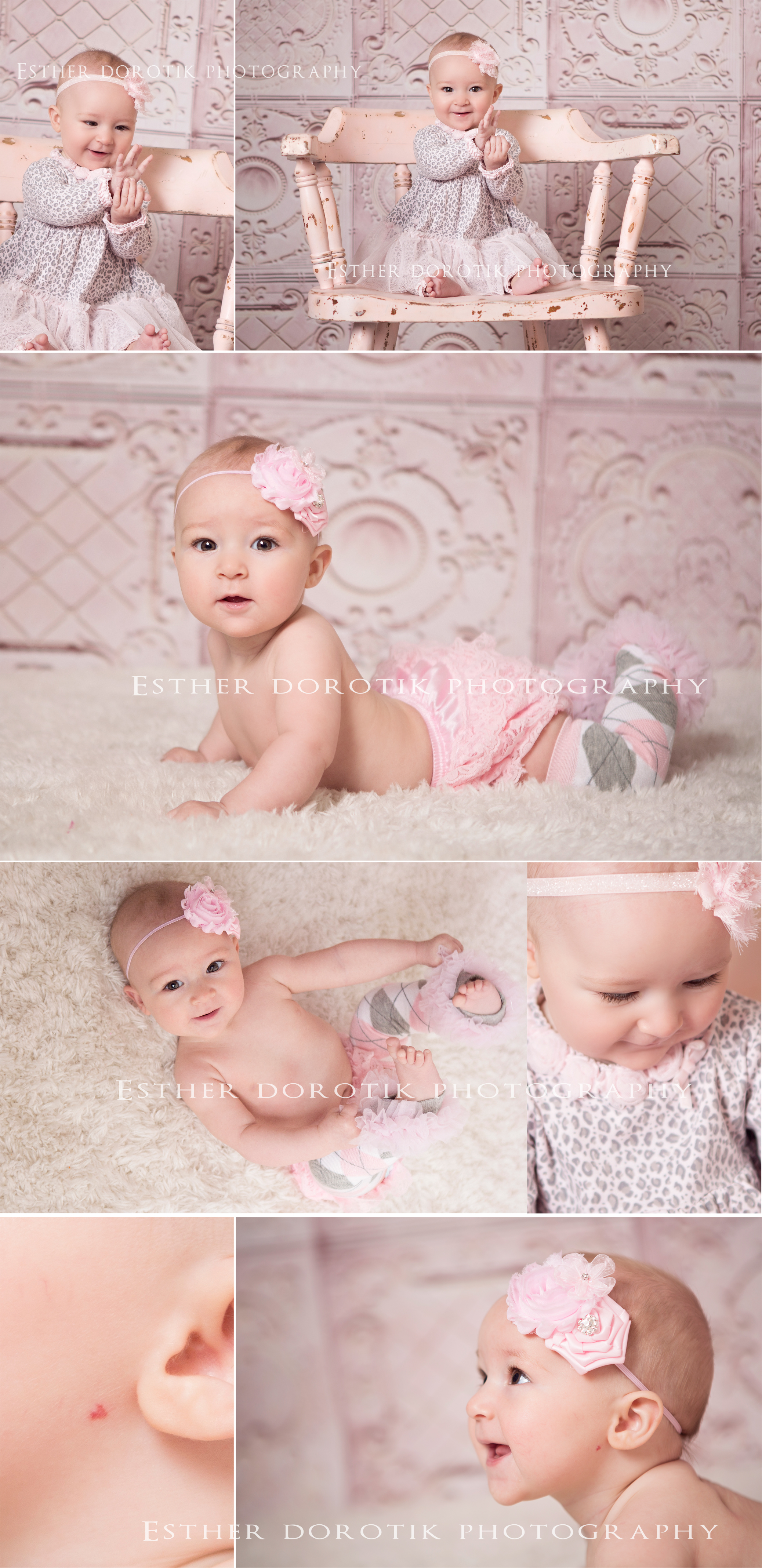pictures-of-6-month-old-girl-in-pink-chair-with-leg-warmers-on-taken-by-Grapevine-baby-photographer