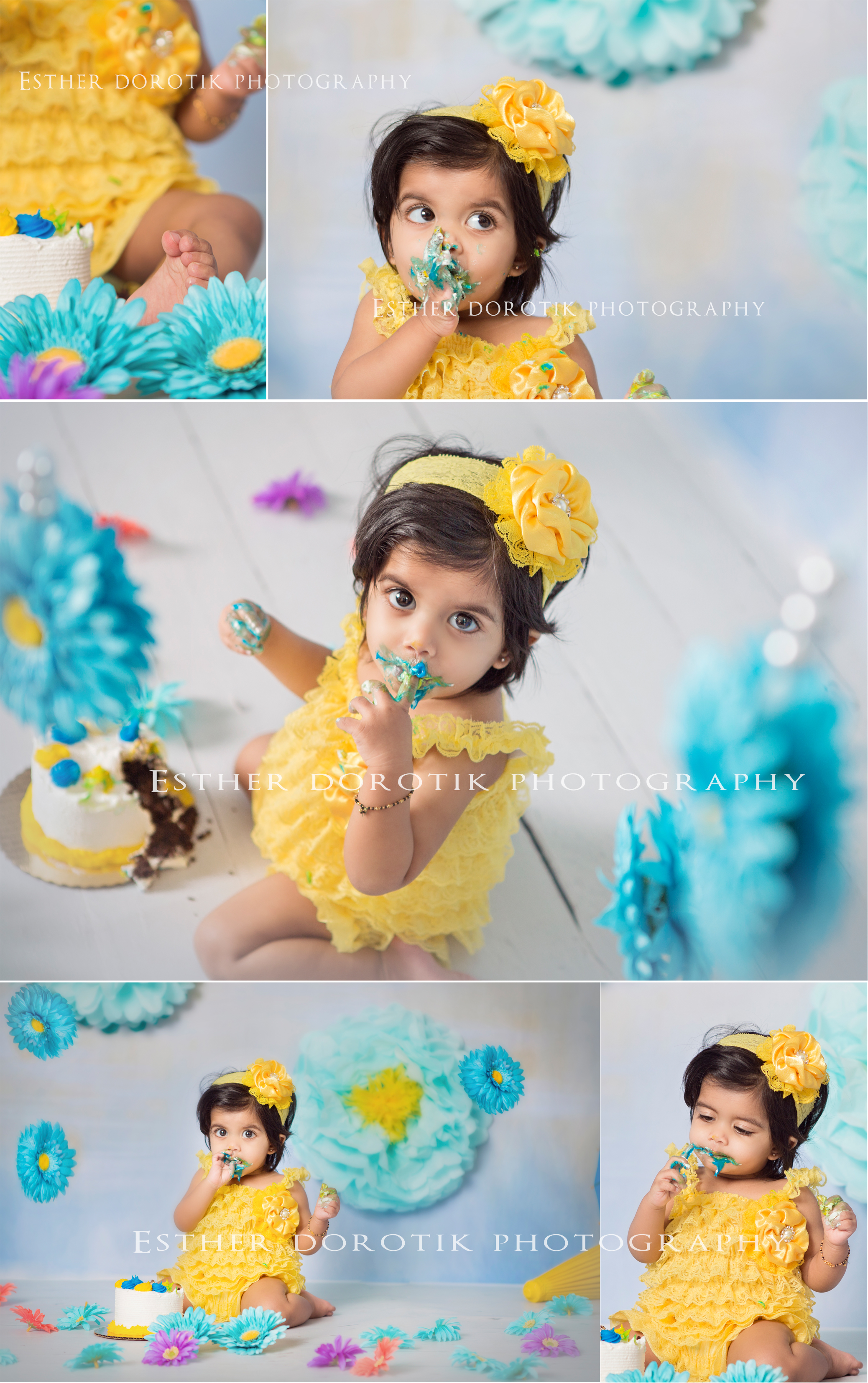 you-are-my-sunshine-cake-smash-photography-session-with-one-year-old-girl-by-Dallas-baby-photograher