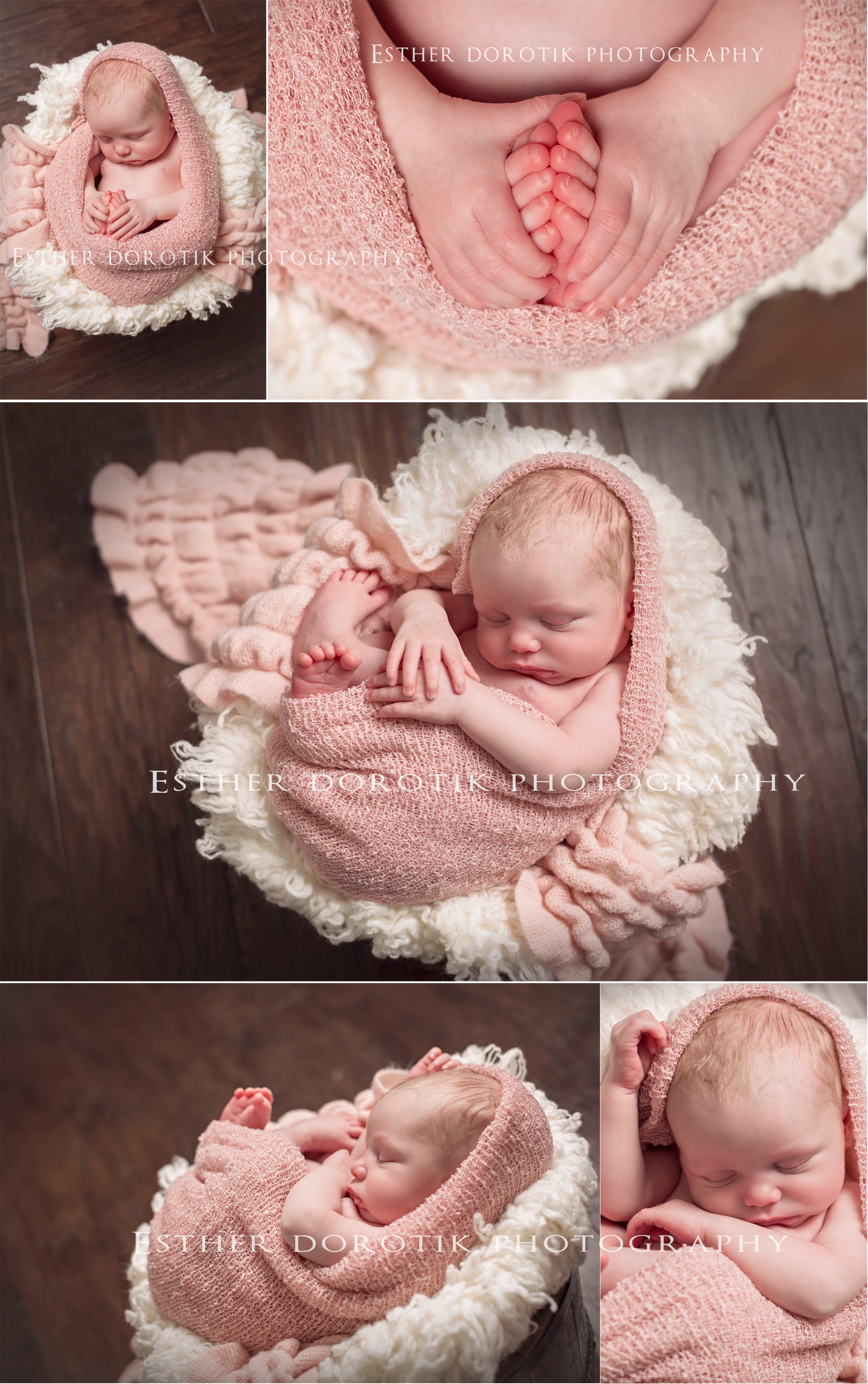 pictures-of-newborn-girl-wrapped-in-knit-cocoon-laying-in-bakset-by-Plano-newborn-photographer