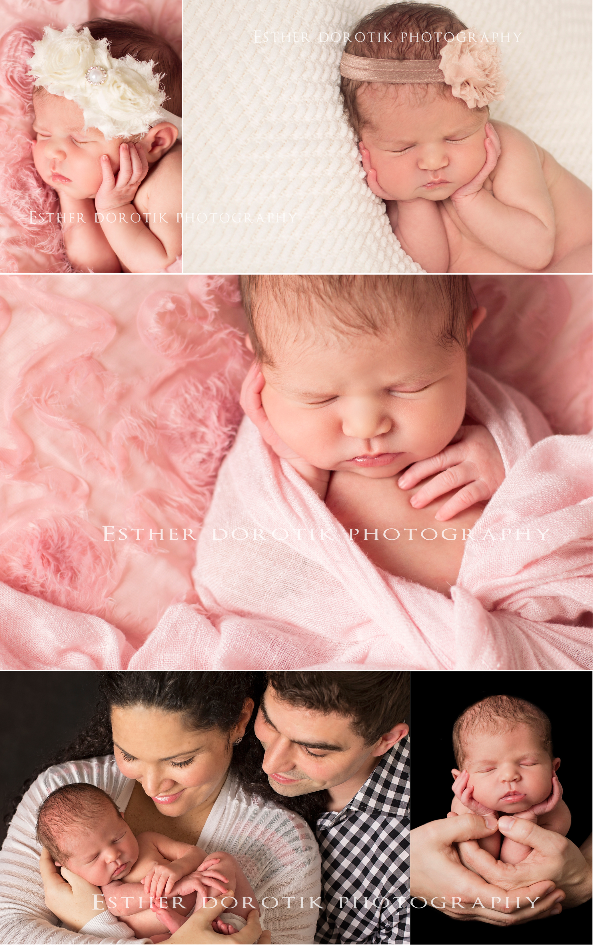 pictures-of-newborn-baby-girl-laying-on-blanket-and-frog-pose-in-Dad