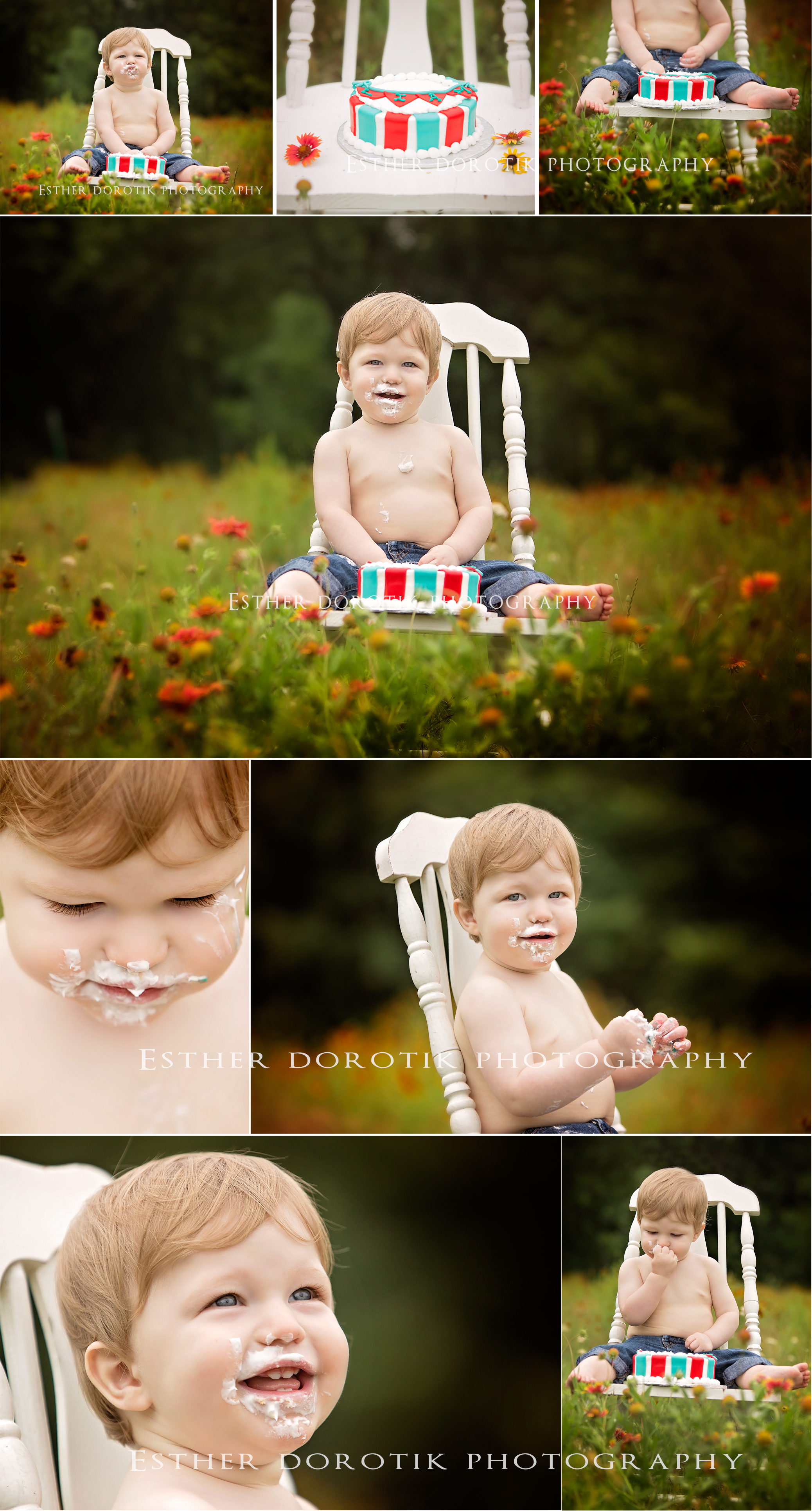 one-year-old-cake-smash-photo-session-by-Flower-mound-baby-photographer